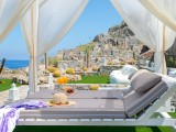 Lindos Vigli Private Villa four-poster daybed with sea view